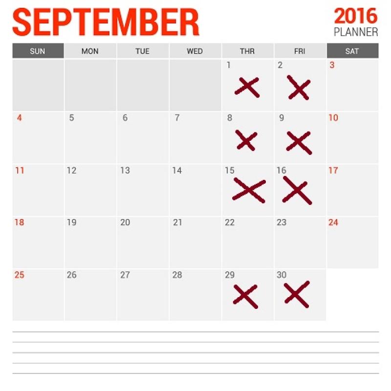 Трудов договор за работа през определени дни в месеца, съгл. чл. 114 от КТ