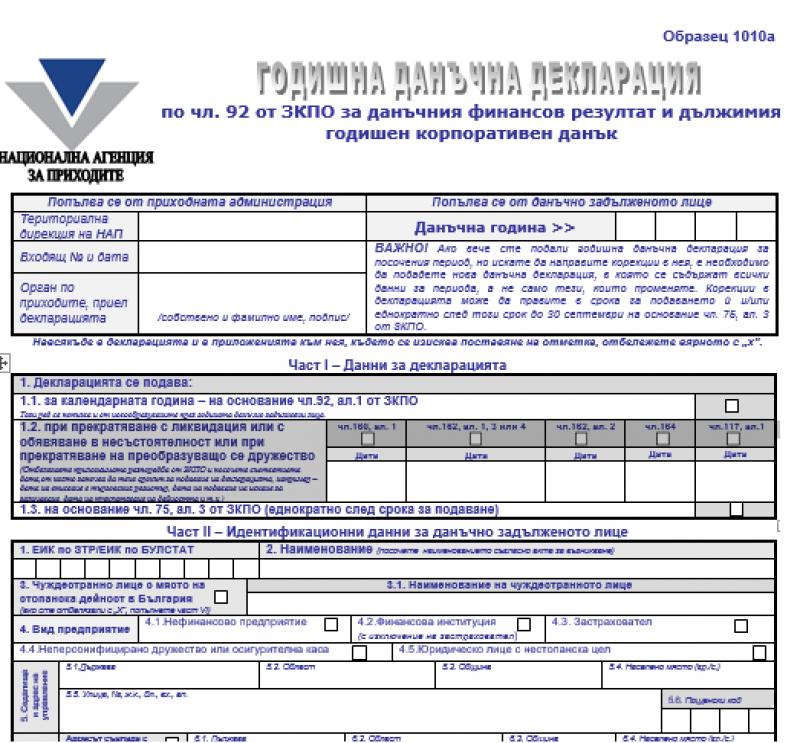 Задължения на предприятията, които не са осъществявали дейност през отчетния период