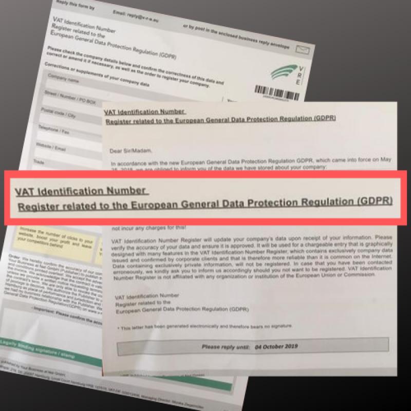 Съмнителен GDPR регистър изисква от компании данни за ДДС регистрация